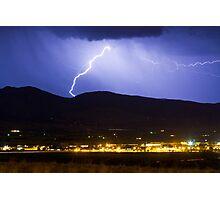 Lightning Striking Over IBM Boulder Photographic Print