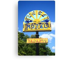 Route 66 - Sunset Motel Canvas Print