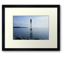 Fork in water at Vevey Framed Print