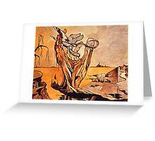 The Self-Destructive Hand Greeting Card