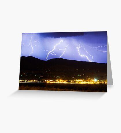 Lightning Striking Over IBM Boulder 3 Greeting Card