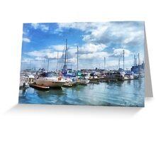Boat Basin Fells Point Greeting Card