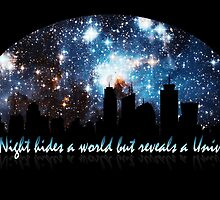 The Night hides a world but reveals a Universe by augustinet