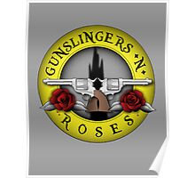 Gunslingers N' Roses Poster