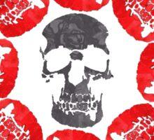 Rose bush skulls Sticker