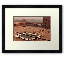 Inside Jama Masjid in the huge courtyard Framed Print