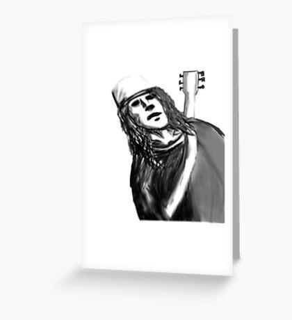 Buckethead ghost host   Greeting Card