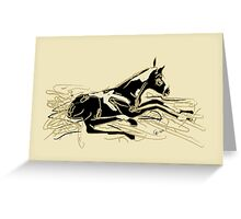 Horse- foal- just born Greeting Card