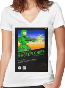Master Chief NES box Women's Fitted V-Neck T-Shirt