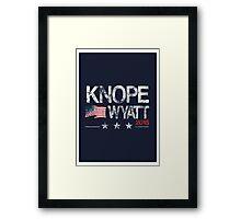 Knope Wyatt Distressed  Framed Print
