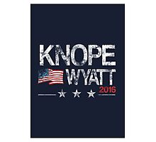 Knope Wyatt Distressed  Photographic Print