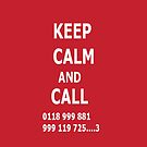 Keep Calm and Call 0118 999 881 999 119 725....3 by Flippinawesome