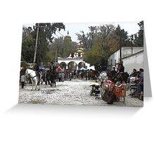 Tepetlaoxtoc Street Scene Greeting Card
