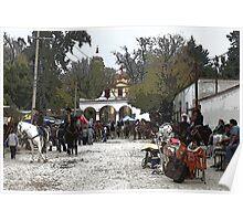 Tepetlaoxtoc Street Scene Poster