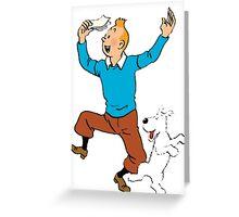 Tin Tin dancing Greeting Card