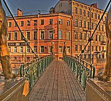bridge in St, Petersburg by Antonio Paliotta