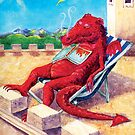 Grandfather dragon sleeps in the sun by didielicious