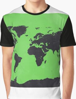 World map Green Graphic T-Shirt