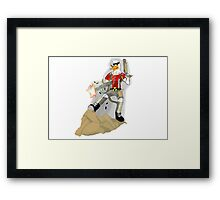 duck nukem Framed Print