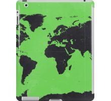 World map Green iPad Case/Skin