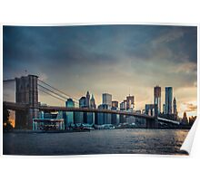 NYC skyline in the sunset - v1 Poster