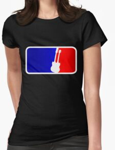 Double Neck League Womens Fitted T-Shirt