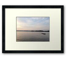 quiet dock Framed Print