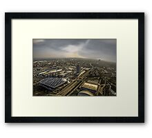 Munich from above - vintage part Framed Print