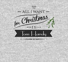 all i want for christmas is Tom Hardy Womens Fitted T-Shirt