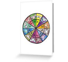 """Oro?"" Astrology Wheel Greeting Card"