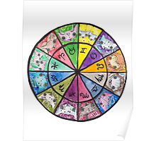 """Oro?"" Astrology Wheel Poster"