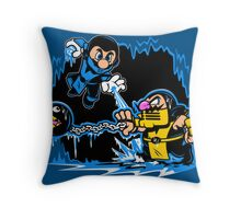 Mario Kombat Throw Pillow