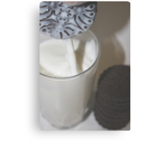 Oops! I Dropped my cookie in my milk. Canvas Print