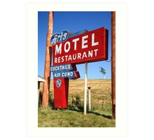Route 66 - Art's Motel Art Print