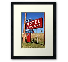 Route 66 - Art's Motel Framed Print