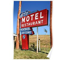 Route 66 - Art's Motel Poster