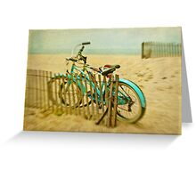 Just another bikes at the beach photo... Greeting Card