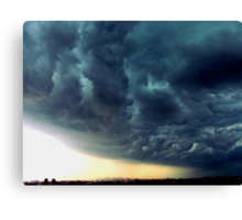 Summer Storm clouds over New York City  Canvas Print