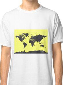 World map yellow Pacific Classic T-Shirt