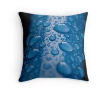 Blue Bin Handle Throw Pillow