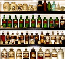 Vintage Bottles by Maria Murphy