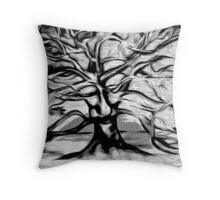 Tree Life B&W Throw Pillow