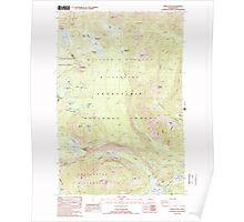 USGS Topo Map Washington State WA Spiral Butte 243896 1988 24000 Poster