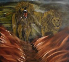 """Twin Lions""  by Carter L. Shepard by echoesofheaven"
