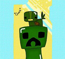 Creeper + Duck by WubbleWicked