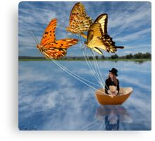 Butterfly Sailing Canvas Print
