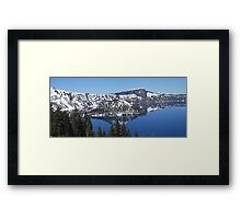 Wizzard Island - Oregon Framed Print