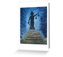 """""""Come Justice""""  by Carter L. Shepard Greeting Card"""