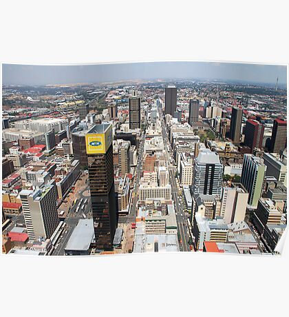Downtown Johannesburg, South Africa Poster