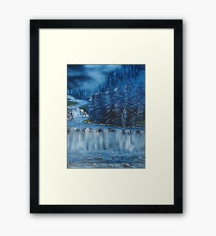 """Winter Scene 5""  by Carter L. Shepard Framed Print"